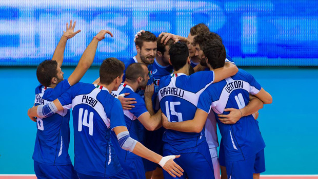 La-nazionale-italiana-di-pallavolo-maschile-impegnata-agli-Europei-2013